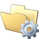 Folder Gear Icon 128x128