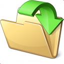Folder Into Icon 128x128