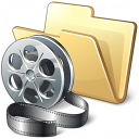 Folder Movie Icon 128x128