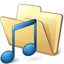 Folder Music Icon 128x128