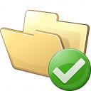Folder Ok Icon 128x128