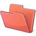 Folder Red Icon 128x128