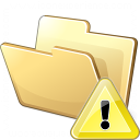 Folder Warning Icon 128x128