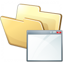 Folder Window Icon 128x128