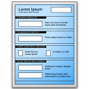 Form Blue Icon 128x128