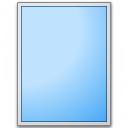 Form Blue Plain Icon 128x128