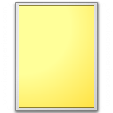 Form Yellow Plain Icon 128x128