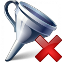 Funnel Delete Icon 128x128