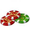 Gambling Chips Icon 128x128
