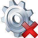 Gear Delete Icon 128x128