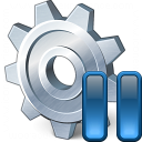 Gear Pause Icon 128x128