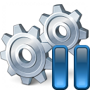 Gears Pause Icon 128x128