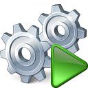 Gears Run Icon 128x128
