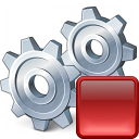 Gears Stop Icon 128x128