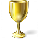 Goblet Gold Icon 128x128