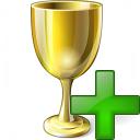 Goblet Gold Add Icon 128x128