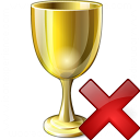 Goblet Gold Delete Icon 128x128