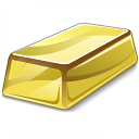 Gold Bar Icon 128x128