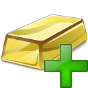 Gold Bar Add Icon 128x128