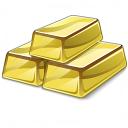 Gold Bars Icon 128x128