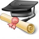 Graduation Hat Icon 128x128