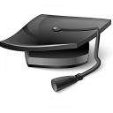 Graduation Hat 2 Icon 128x128