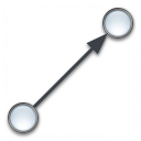 Graph Edge Directed Icon 128x128