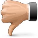 Hand Thumb Down Icon 128x128