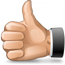 Hand Thumb Up Icon 128x128