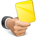 Hand Yellow Card Icon 128x128