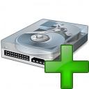 Hard Drive Add Icon 128x128