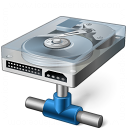 Hard Drive Network Icon 128x128
