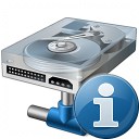 Hard Drive Network Information Icon 128x128