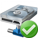 Hard Drive Network Ok Icon 128x128