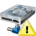 Hard Drive Network Warning Icon 128x128
