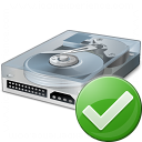 Hard Drive Ok Icon 128x128