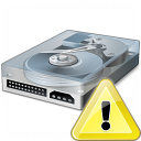 Hard Drive Warning Icon 128x128