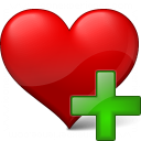 Heart Add Icon 128x128
