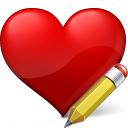 Heart Edit Icon 128x128