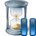 Hourglass Pause Icon 128x128