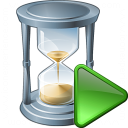 Hourglass Run Icon 128x128