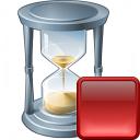 Hourglass Stop Icon 128x128
