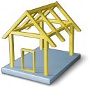House Framework Icon 128x128