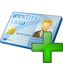 Id Card Add Icon 128x128