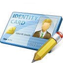 Id Card Edit Icon 128x128