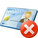 Id Card Error Icon 128x128