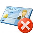 Id Card Error Icon 128x128