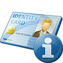 Id Card Information Icon 128x128