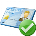Id Card Ok Icon 128x128