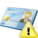 Id Card Warning Icon 128x128